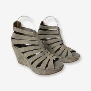 """Cordani """"Made in Italy"""" Grey Suede Wedges Size 38"""